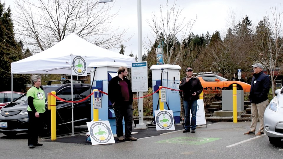 Two new electric vehicle charging stations added in Sechelt