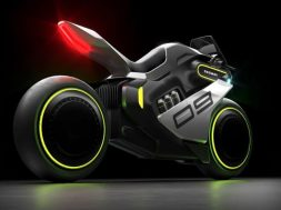 Segway unveils Tron-like Apex hydrogen-electric motorcycle