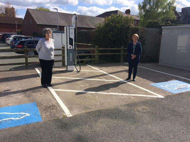 Chirk Host to New Unique EV Charging Point Unveiled