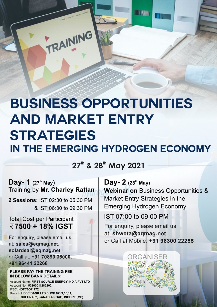 E-Training on Business Opportunities & Market Entry Strategies in The Emerging Hydrogen Economy