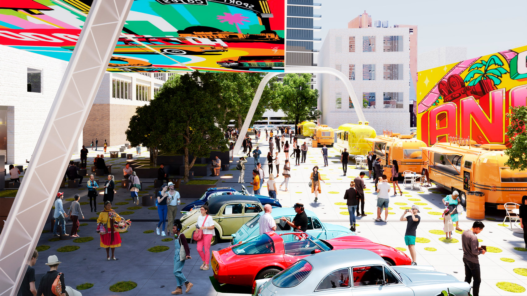 Woods Bagot Imagines Electric Vehicle Charging Stations as Drive-In Cinemas