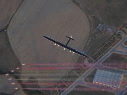 Solar Impulse landing in Seville, Spain
