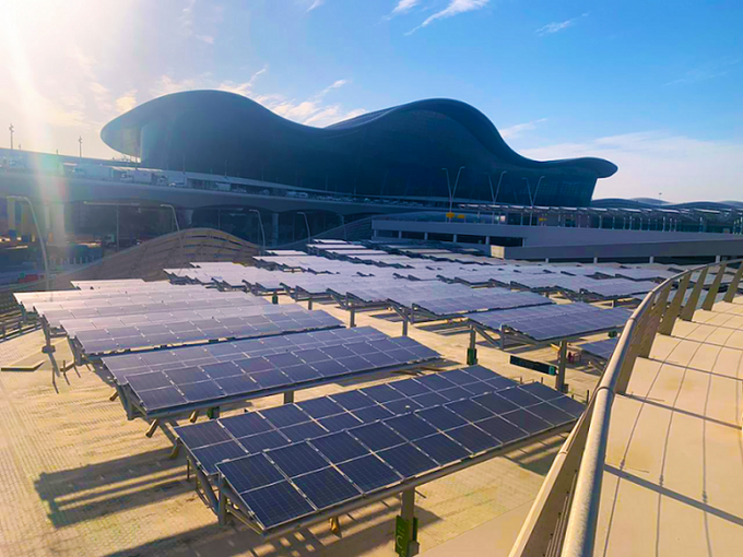 Abu Dhabi Airports and Masdar Complete Largest Solar-Powered Car Park