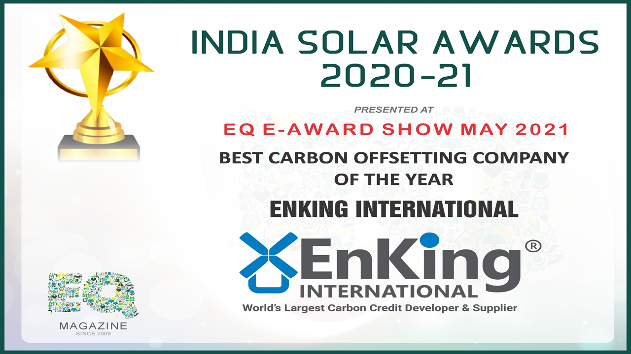 EnKing International Wins Solar Award- 'Best Carbon Offsetting Company of the Year'