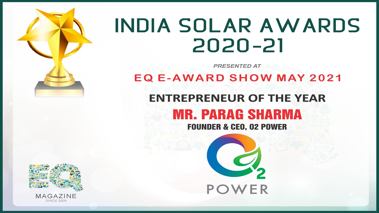 India Solar Awards 2021: Parag Sharma wins 'Entrepreneur of the Year' Award