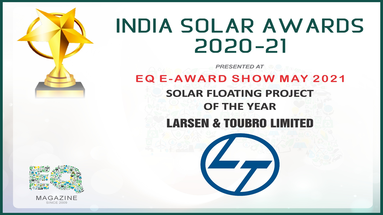 India Solar Awards 2021: L&T Wins 'Solar Floating Project of the Year' Award