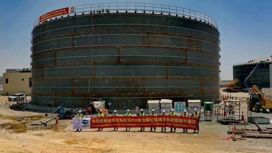 Thermal Storage Test Milestone at the 700 MW DEWA CSP Plant