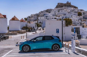 Volkswagen's electric cars to help this Greece island to go green