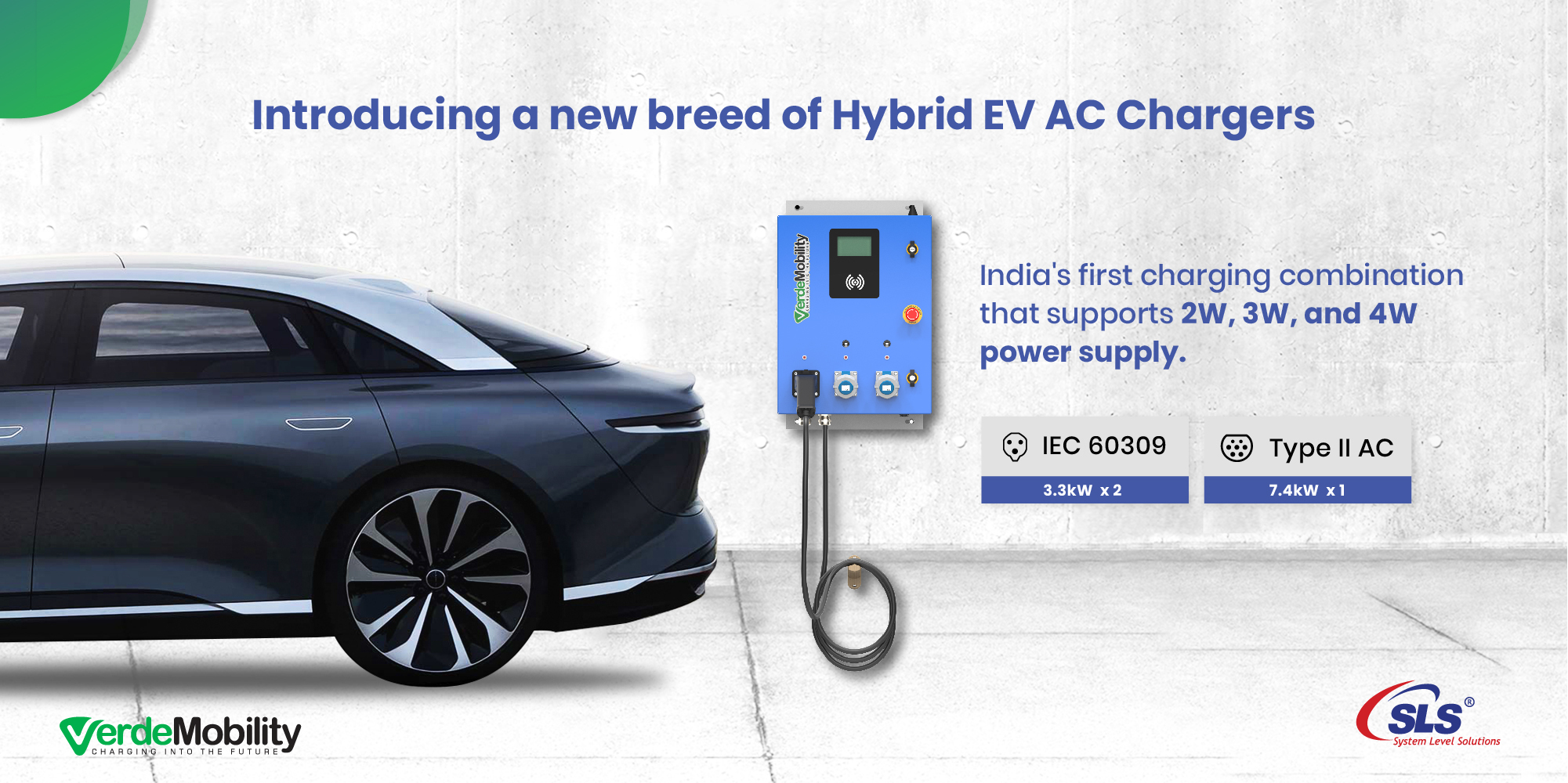 VerdeMobility Launches the First Ever Hybrid AC EV Chargers in India For Multi-Protocol Charging