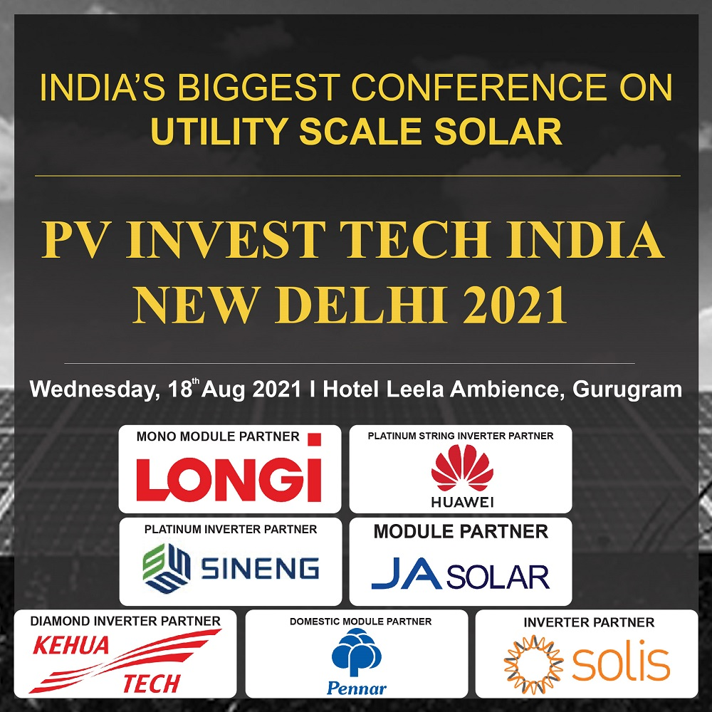 EQ PV Invest Tech India – New Delhi 2021 on Wednesday August 18th From 09:30 AM Onwards…. Register Now !!!