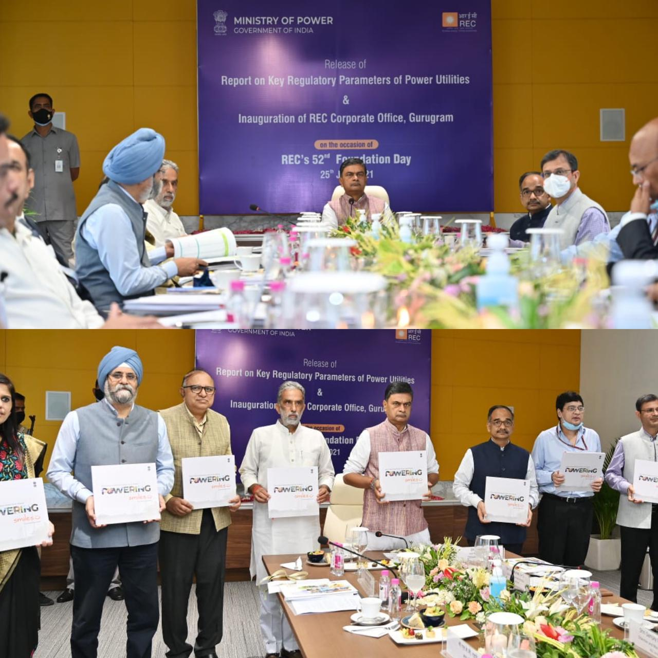 Union Power Minister And Minister of State For Power Release a Report on Key Regulatory Parameters of Power Utilities As Part of Azadi Ka Amrit Mahotsav