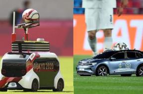 Toyota's tiny car serves as ball boy at Tokyo Olympics 2021, wins hearts