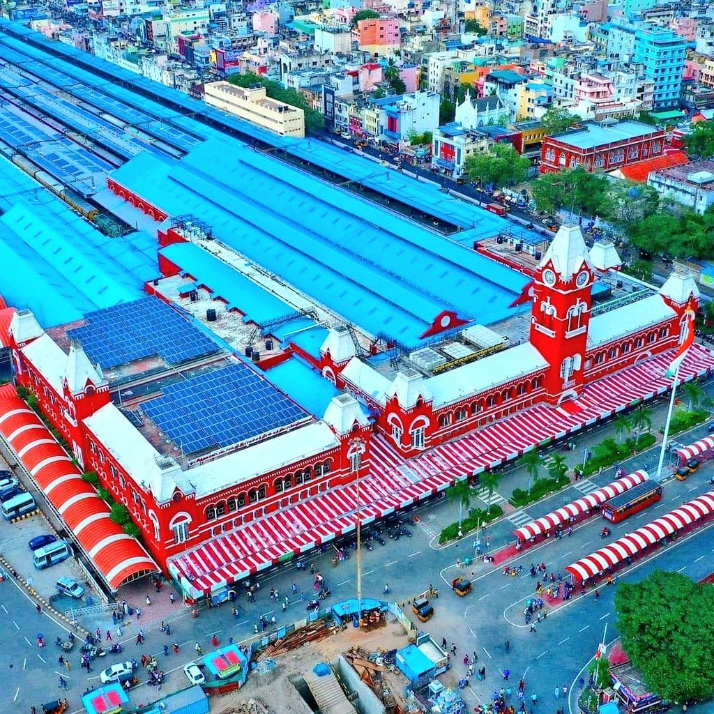 Indian Railways' Chennai Central Station is Now Fully Powered by Solar Energy; See Photos – EQ Mag Pro
