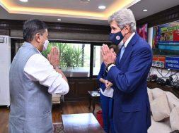 RK Singh meets US Special Presidential Envoy for Climate John Kerry in Delhi