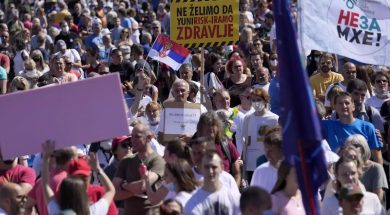 Serbs protest against lithium mining, other environmental problems