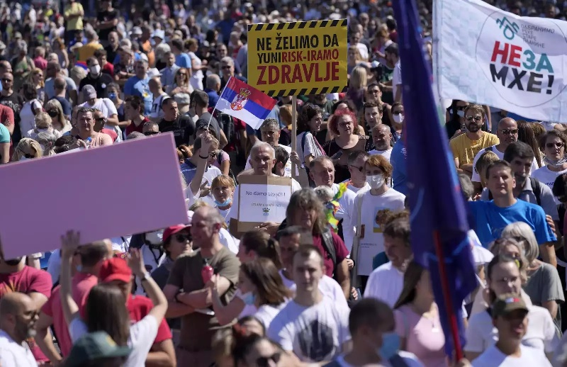 Serbs protest against lithium mining, other environmental problems – EQ Mag Pro